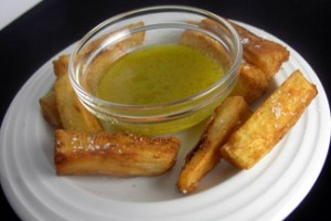 Mojo Sauce with Fried Yuca