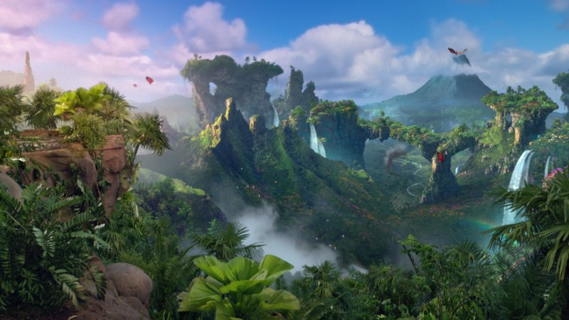 CGI island from the movie Journey 2