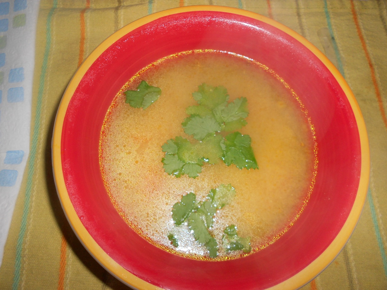 The finished soup.